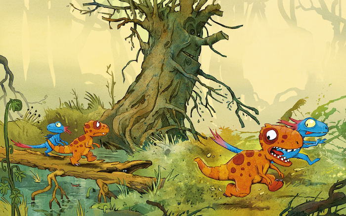 Illustrasjon fra Dinosaurgjengen